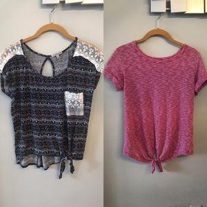 You get both! 2 Bottom Knot T-shirts sz SM